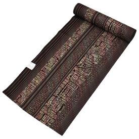 <本日5%OFFクーポン発行中> 洗える着物 小紋 新品 反物 東レ シルック レディース 女性用 茶色 縞