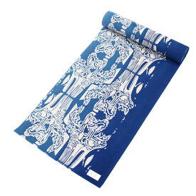 浴衣 反物 生地 レディース 女性用 女物 ゆかた レトロ 日本製 新品 注染染め 本染め 青色 ブルー 井登美