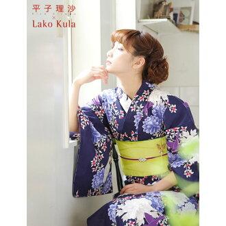 히 라 코 리사 × Lako Kula 브랜드 유카 타 세트 유카 타와 띠와 악세사리 2 가지를 선택할 수 있는 유카 타 복 주머니