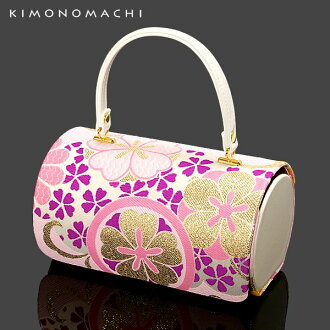 Shichi-go-san accessory , kids bag [pink x classical patterns] girls kimono bag