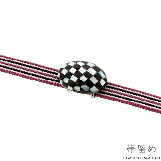 """Product made in Japan for the joke for the casual kimono for obi buckle antique-like """"Oval checks"""" three minutes restrictions"""