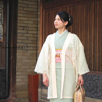 Lace haori coat [cream white] with the cord , made in Japan<H>