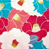 여성 유카 타 단품 「 라즈베리 × 코발트 블루 동백 」 면 욕의 プレタ 욕의이 맞게 유카 불꽃놀이, 여름 데이트 FS-B-9