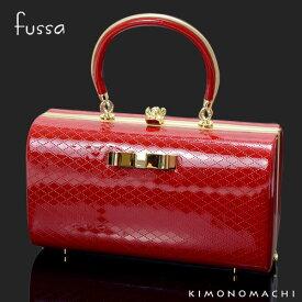 fussa バッグ単品「赤色 リボン」型押リボン飾り 成人式、結婚式の振袖に 振袖バッグ 華やかバッグ <H>【メール便不可】ss2009zbg20
