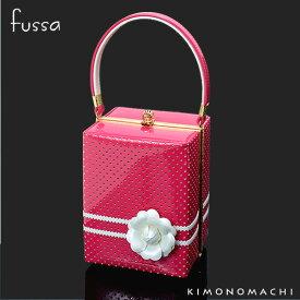 fussa バッグ単品「ピンク レース」カッティング紐花コサージュバッグ 成人式、結婚式の振袖に 振袖バッグ 華やかバッグ <H>【メール便不可】ss2009zbg20
