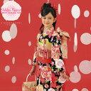 七五三 四つ身着物「黒色 桜」式部浪漫 こども着物 7歳向け 子供着物 桜10黒<H>【メール便不可】