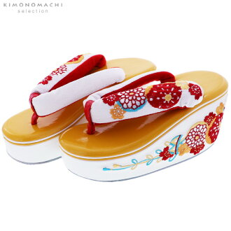 """Embroidery sandals one piece of article """"yellow burr"""" long-sleeved kimono sandals embroidery sandals heel sandals <H>"""