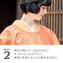 ロング丈 割烹着「オレンジピンク お花」日本製 オシャレ かわいい 綿 コットン 割烹着 母の日 ギフト エプロン 割烹着 オレンジ 花柄 フリーサイズ 【メール便対応可】