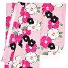 """縫製上2尺袖子單物品在""""粉紅×白條紋山茶""""畢業典禮,能在謝恩會洗女性和服2尺袖子的和服"""