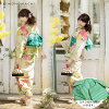 "Obi yukata set ""cream chrysanthemum and parrot"" S F TL LL yukata set woman lady's woman yukata fancy weaving Lady's yukata impossibility made"