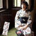 洗える着物 単品 「ブルー猫トランプ」 KIMONOMACHI オリジナル きもの福袋から飛び出た着物単品 サイズS/M/L/TL/LL …