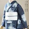 "Newly made diaphragm yukata one piece of article ""grape"" Arimatsu diaphragm woman yukata Lady's yukata cotton newly made yukata"