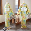"Newly made diaphragm yukata one piece of article ""Micronesia"" Arimatsu diaphragm woman yukata Lady's yukata cotton newly made yukata"