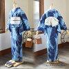 "Newly made diaphragm yukata one piece of article ""gorgeous Ayame"" Arimatsu diaphragm woman yukata Lady's yukata cotton newly made yukata"