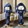 "Newly made diaphragm yukata one piece of article ""consecutive chrysanthemum"" 78-3 Arimatsu diaphragm woman yukata Lady's yukata cotton newly made yukata"