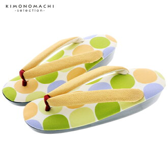 "Footwear sandals joke use for the product made in sandals one piece of article Japan urethane woman sandals Lady's woman kimono which does not hurt for the sandals lady's casual ""green waterdrop"" large size adjustable size around 24cm woman"
