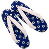 """Footwear sandals joke use for the product made in sandals one piece of article Japan urethane woman sandals Lady's woman kimono which does not hurt for the sandals lady's casual """"navy cat"""" large size adjustable size around 24cm woman"""