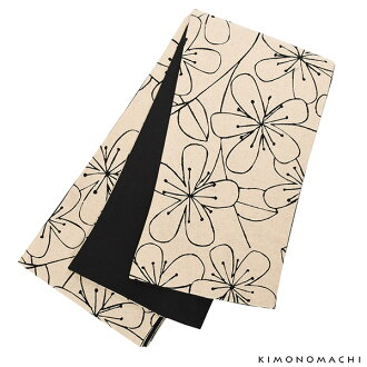 "Cotton half-breadth sash ""beige flower"" cotton zone half width zone cotton narrow obi cotton zone newly made zone casual joke Zone"