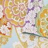 振袖 帯 「薄水色 扇に花」 日本製 西陣織 証紙番号2362 大光株式会社謹製 絹 未仕立て 六通柄 振袖用 袋帯 振袖帯 <T>