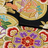 """Double-woven obi long-sleeved kimono Zone for the silk non-six kinds of supernatural power farming rake sleeve carefully made by Nishijin brocade certificate stamp number 2362 Taiko made in long-sleeved kimono zone """"black ground flower"""" Japan made by &lt"""