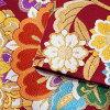 振袖 帯 「赤地 華紋と桜」 日本製 西陣織 証紙番号2362 大光株式会社謹製 絹 未仕立て 六通柄 振袖用 袋帯 振袖帯 <T>