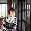 "A washable kimono set ""a lined kimono kimono: lattice purple + Kyoto double-woven obi is two points of set size S/M/L/TL/LL coordinates finished kimono set fine pattern Lady's kimonos of moss-green grape ivy and puppy"" KIMONOMACHI original kimono and the"