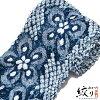 "Diaphragm yukata cloth ""gem loop flower"" Arimatsu diaphragm woman yukata Lady's yukata diaphragm yukata cotton yukata is made by non-tailor"