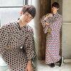 "Yukata one piece of article gentleman yukata yukata yukata for the yukata men man summer clothes thing polyester ""diamond Shippo red"" big size 3L/4L man yukata one piece of article polyester yukata man"