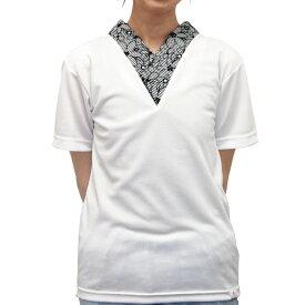 f4577d79f3f5 Asumo Tシャツ襦袢 女性用 春夏秋冬 胸元マジックテープ調整/ポリエステル素材