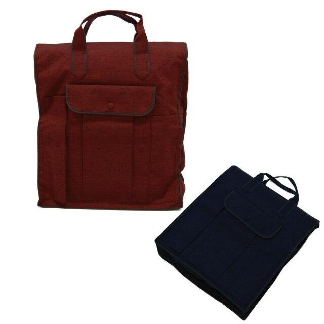 【きものパック 藤】安心の日本製 着物バッグ カラーはエンジと紺の2色の和装バッグ 着物 収納バッグ 折りたたみ バッグ 旅行 軽量 軽い 手提げ 紬 つむぎ 【メール便対応OK】
