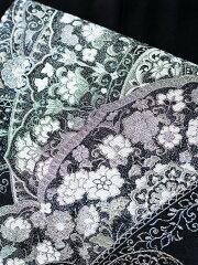 【レンタル】【obi-29-331】豪華高級袋帯レンタル黒地のフォーマル袋帯