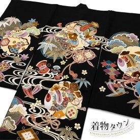 お宮参り 着物 男の子 初着 産着 正絹 鷹 兜 黒 男児 祝着 掛け着 購入 販売 noshime-00006