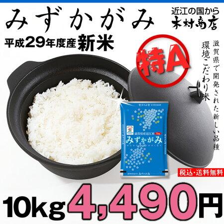 【新米】みずかがみ環境こだわり米10kg【平成29年・滋賀県産】