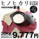 ヒノヒカリ 玄米のまま30kgもしくは精米済み白米27kg【平成28年:滋賀県産】【送料無料】