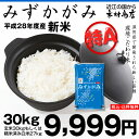 【2年連続:特A:獲得♪】みずかがみ 環境こだわり米 玄米 30kgもしくは精米済み白米27kg【平成28年・滋賀県産】