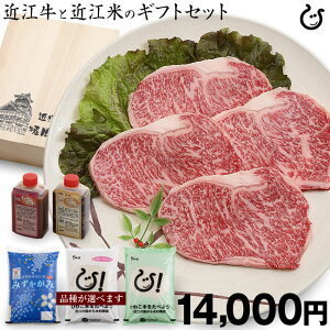 【近江セット:予約販売】【ギフト】お米 5kg と 近江牛:ステーキ牛4枚をセット販売!!