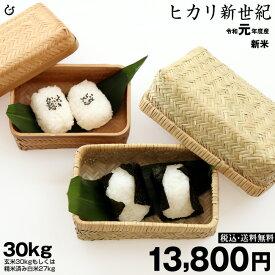 新米!【令和元年:滋賀県産】ヒカリ新世紀 玄米のまま30kgまたは精米済白米27kg【送料無料】