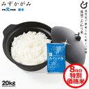 【8月の特別米】特A みずかがみ 玄米のまま 20kgまたは精米済み白米 20kg 環境こだわり米 令和元年 滋賀県産 送料無料