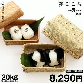 新米!【令和元年:滋賀県産】夢ごこち 玄米のまま20kgまたは精米済み白米20kg  環境こだわり米