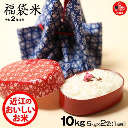 【新米】【福袋米スペシャルパック】白米5kg×2袋【令和2年:滋賀県産】【送料無料】2品種でのお届けとなります