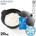 【新米】みずかがみ 玄米のまま 20kgまたは精米済み白米 20kg 環境こだわり米 令和2年 滋賀県産 送料無料