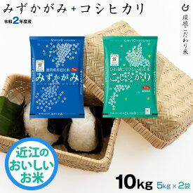 【新米】セット 近江米 みずかがみ 5kg + コシヒカリ 5kg 合計 10kg 令和2年 滋賀県産 送料無料