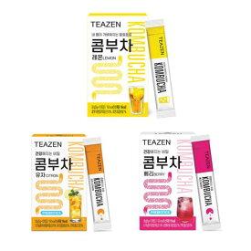 【ジョングクおまけ付き】 TEAZEN (ティーゼン) コンブチャ 5g×10包 全3種 (レモン、ベリー、ゆず) 韓国 お茶 健康茶 昆布茶 コンブ茶 レモン 柚子 ベリー ジョングク 送料無料