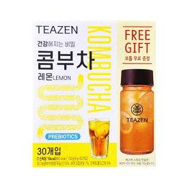 【ジョングクおまけ付き】TEAZEN(ティーゼン) コンブチャ レモン 30包+(ボトル付き) 韓国 お茶 健康茶 昆布茶 コンブ茶 ジョングク グク 送料無料