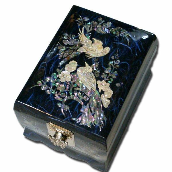 『送料無料(一部地域別途送料)』韓国の伝統を伝えるアンティーク漆器アリランのオルゴール付き宝石箱