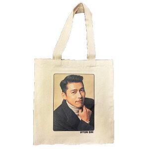 ヒョンビン hyunbin トートバッグ エコバッグ バッグ かばん 鞄 両面 韓流 グッズ 韓国 雑貨 愛の不時着 定形外郵便送料無料