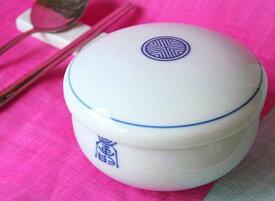 白色陶器パックル【飯椀・フタ付き】(宮廷女官 チャングムの誓いに登場)[韓国食器] お取り寄せ