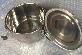 キムチ保存器 小 ステンレス 密閉 韓国製 韓国食器 直径約11cm 高さ約6cm 臭いがもれない 液もれしない 冷蔵庫保管 安心 お取り寄せ