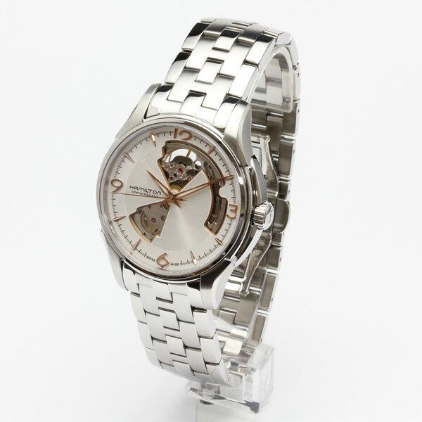 正規品 ハミルトン腕時計 H32565155 ジャズマスター オープンハート ジェンツ(機械式自動巻き)銀色文字盤/ブレスレットメーカー2年保証 HAMILTON Jazzmaster Open Heart Gents【送料無料】