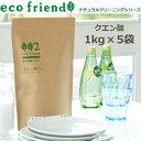 【送料無料】eco friend /クエン酸 5kg(1kg×5個)/掃除用 ナチュラル原料 食添グレード 粉末 【02P03Dec16】